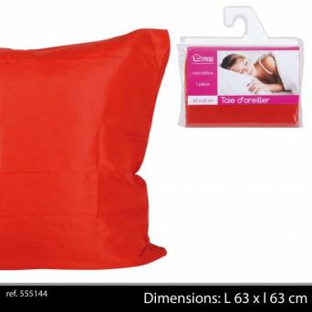 Taie Oreiller Rouge Polyester 63 x 63 cm