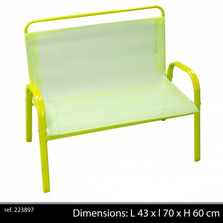 banc de jardin enfants ext rieur vert anis mobilier de jardin enfants l 43 ebay. Black Bedroom Furniture Sets. Home Design Ideas